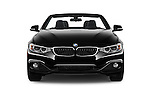 Car photography straight front view of a 2017 BMW 4-Series 430i 2 Door Convertible Front View