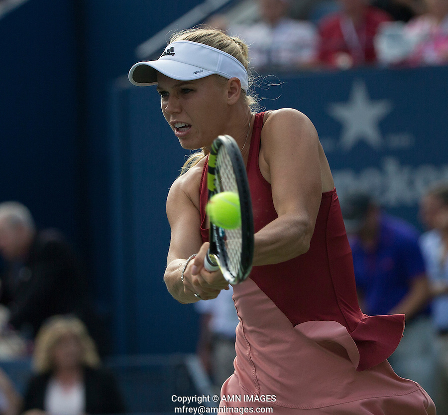 CAROLINE WOZNIACKI (DEN)<br /> The US Open Tennis Championships 2014 - USTA Billie Jean King National Tennis Centre -  Flushing - New York - USA -   ATP - ITF -WTA  2014  - Grand Slam - USA  <br /> 7th September 2014. <br /> <br /> &copy; AMN IMAGES