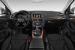 Stock photo of straight dashboard view of 2017 Audi Q5 Premium 5 Door SUV Dashboard