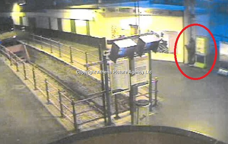 """Pictured: CCTV screen grab showing the moment 52 year old Martin Maguire, attacked and killed a seagull at Hollyhead Railway Station in north Wales, UK. <br /> Re: A man who stamped a seagull to death in Holyhead train station has been convicted under the Animal Cruelty Act.<br /> Martin Maguire, 52, and of no fixed address, was found guilty of intentionally killing a wild bird at Caernarfon Magistrates' Court on 4 February, following the shocking and brutal incident last year.<br /> The court heard that at around 5:30am on 7 August, Maguire followed a seagull who was walking down a platform and purposely trapped it into a corner by some poster boards.<br /> CCTV shows Maguire then kicking and stamping down on the head of the seagull several times before walking away, killing it in the process.<br /> A member of station staff was starting their shift soon after and found the dead seagull with a broken neck and snapped wing.<br /> After an investigation by BTP officers, Maguire was arrested after being spotted at Holyhead station in November.<br /> At court he was fined £180, and ordered to pay a surcharge of £30 to fund victim services, plus £200 in costs to the Crown Prosecution Service.<br /> Investigating Officer PC Harry Thompson said: """"This was a mindless and violent attack on an innocent animal, who suffered a painful, unnecessary and cruel death at the hands of Maguire.<br /> """"It was also incredibly distressing for the member of staff who found the dead seagull, and then had to watch Maguire's attack in full on CCTV.<br /> """"I am pleased we were able to bring him before the courts as violence against anyone, including animals, will not be tolerated."""""""