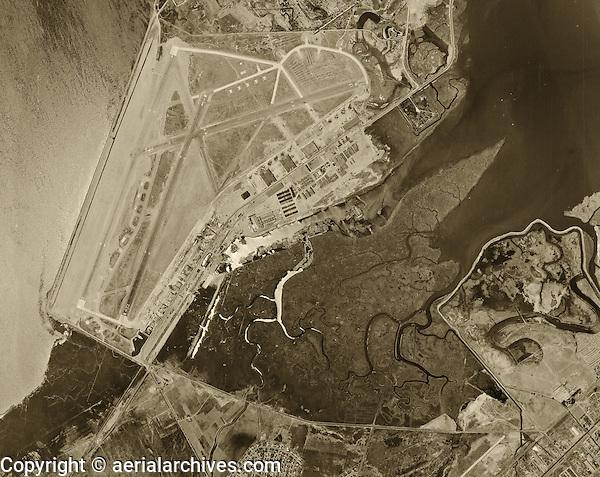 historical aerial photograph Oakland International airport 1946