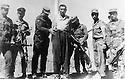 Iran 1967 .Namek, highwayman, with the firing squad in Saqez .<br /> Iran 1967  Namek, bandit, devant le peloton d'execution a Saquez