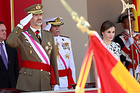 Spanish Royals Attend Armed Forces Day 2017.