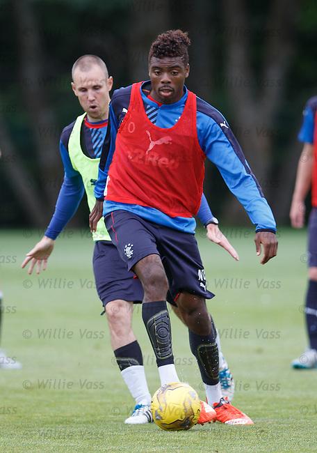 Nathan Oduwa and Kenny Miller