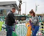 24.04.2019 Rangers fans placing tributes