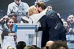 Madrid Mayor Manuela Carmena and Real Madrid's Sergio Ramos at Crystal Gallery of the Palacio de Cibeles in Madrid, May 22, 2017. Spain.<br /> (ALTERPHOTOS/BorjaB.Hojas)
