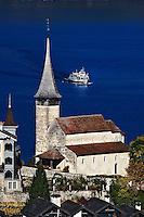 Swiss village on Brienzwer Sea, Interlaken, Switzerland