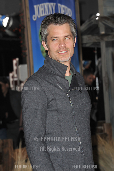 """Timothy Olyphant at the Los Angeles premiere of his new animated movie """"Rango"""" at the Regency Village Theatre, Westwood..February 14, 2011  Los Angeles, CA.Picture: Paul Smith / Featureflash"""