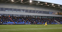 Oldham Athletic fans watch their team in action during the Sky Bet League 1 match between Oldham Athletic and Bristol Rovers at Boundary Park, Oldham, England on 30 December 2017. Photo by Juel Miah / PRiME Media Images.