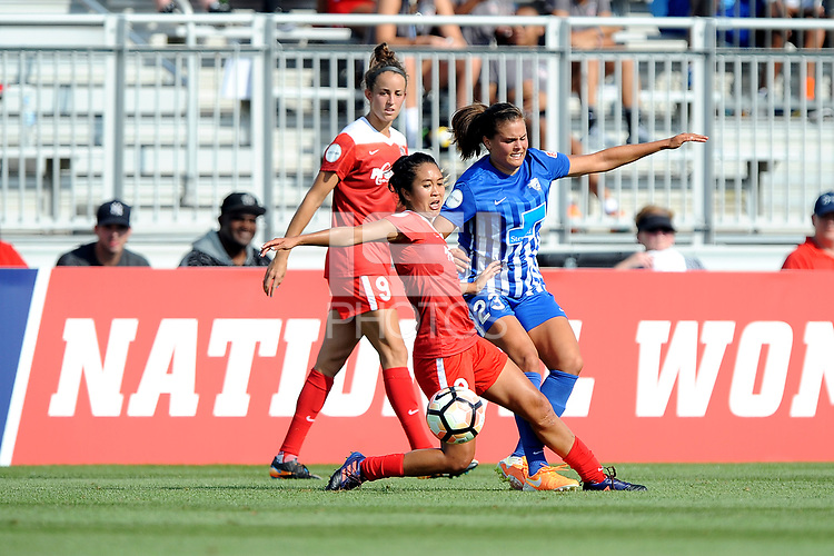 Boyds, MD - Saturday August 12, 2017: Caprice Dydasco, Katie Stengel during a regular season National Women's Soccer League (NWSL) match between the Washington Spirit and the Boston Breakers at Maureen Hendricks Field, Maryland SoccerPlex.