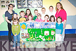 COLLAGE: Children from Georgina Maher's art class at Cumann Iosaef Community Centre getting busy with their collage for the Kingdom County Fair. Front l-r: Ruth O'Connell, Aoife Hickey, Jack  Pendergast, Lia O'Connell, Riadh O'Sullivan, Alana Gannon, Niamh O'Mahony and Ava Pendergast. Back l-r: Michelle Smith, Fiona O'Connell, Steven Gannon, Eoin Lynch, Catriona Collins and Georgina Maher. Copyright Kerry's Eye 2008