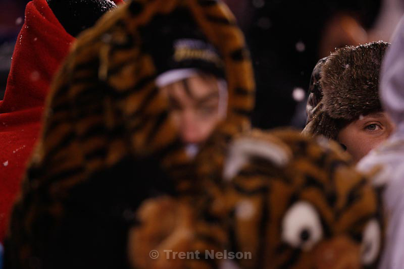Trent Nelson  |  The Salt Lake Tribune.Hurricane vs. Desert Hills in the 3A State Championship high school football game at Rice-Eccles Stadium in Salt Lake City, Utah, Friday, November 18, 2011. desert hills fans