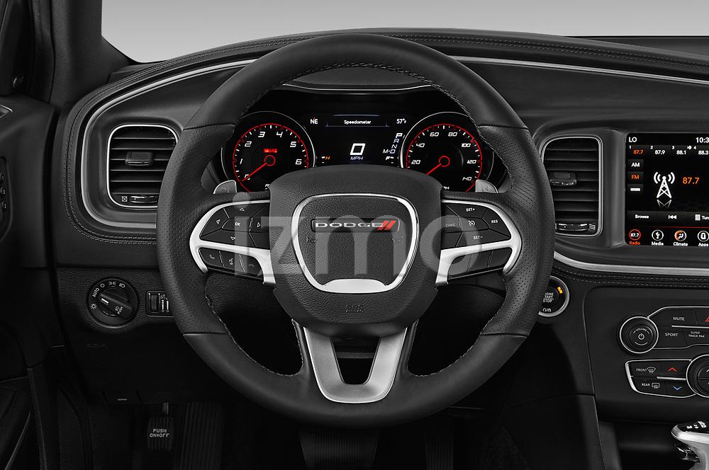 Car pictures of steering wheel view of a 2019 Dodge Charger GT 4 Door Sedan Steering Wheel