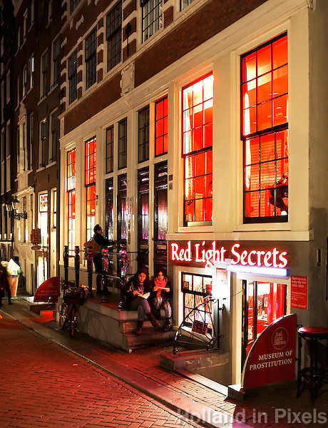 Amsterdam- Red Light District. Oudezijds Achterburgwal . Prostitutie Museum: Red Light Secrets