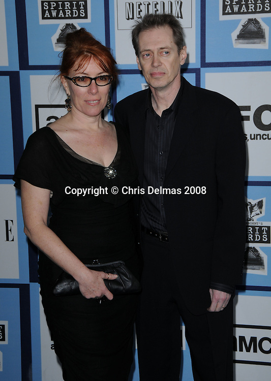 STEVE BUSCHEMI + wife @ the 2008 Film Independent's Spirit awards held @ the Santa Monica beach..February 23, 2008