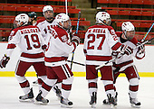 Alex Killorn (Harvard - 19), Peter Starrett (Harvard - 14), Ryan Grimshaw (Harvard - 6), Michael Biega (Harvard - 27), Louis Leblanc (Harvard - 20) - The Harvard University Crimson defeated the Dartmouth College Big Green 4-1 (EN) on Monday, January 18, 2010, at Bright Hockey Center in Cambridge, Massachusetts.