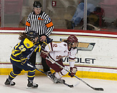 Chloe Cook (Merrimack - 29), Kenzie Kent (BC - 12) - The number one seeded Boston College Eagles defeated the eight seeded Merrimack College Warriors 1-0 to sweep their Hockey East quarterfinal series on Friday, February 24, 2017, at Kelley Rink in Conte Forum in Chestnut Hill, Massachusetts.The number one seeded Boston College Eagles defeated the eight seeded Merrimack College Warriors 1-0 to sweep their Hockey East quarterfinal series on Friday, February 24, 2017, at Kelley Rink in Conte Forum in Chestnut Hill, Massachusetts.