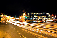 Night view of Nationals Park home opener an hour after the first Nationals win of the season. The Nationals won 3-2 over the Atlanta Braves with a bottom of the 9th homerun by  Ryan Zimmerman