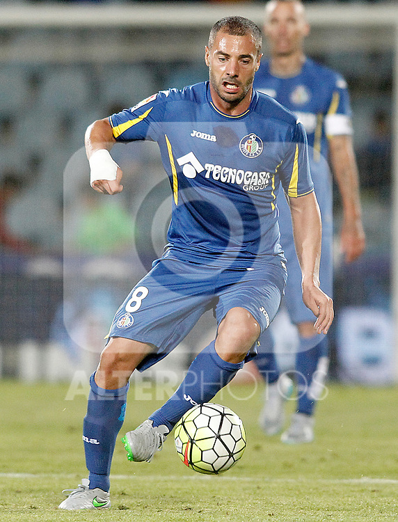 Getafe's Medhi Lacen during La Liga match.September 18,2015. (ALTERPHOTOS/Acero)