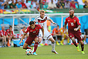 (L to R) <br /> Ricardo Costa (POR), <br /> Andre Schurrle (GER), <br /> Raul Meireles (POR), <br /> JUNE 16, 2014 - Football /Soccer : <br /> 2014 FIFA World Cup Brazil <br /> Group Match -Group G- <br /> between  Germany 4-0 Portugal <br /> at Arena Fonte Nova, Salvador, Brazil. <br /> (Photo by YUTAKA/AFLO SPORT)
