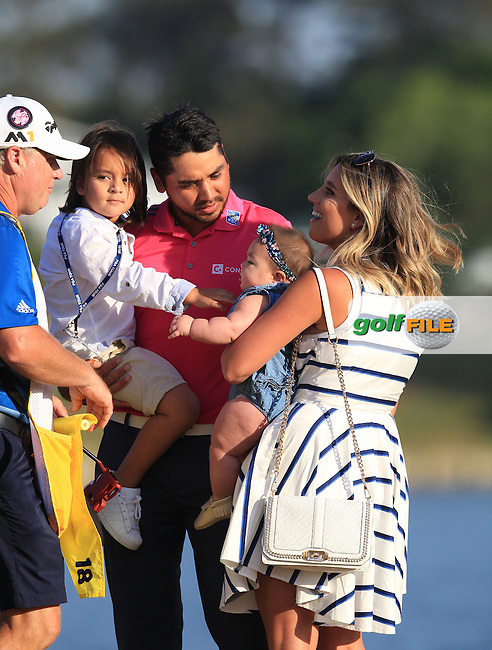 Jason Day (AUS) Champion of The Players 2016 with family , TPC Sawgrass, Ponte Vedra Beach, Jacksonville.   Florida, USA. 15/05/2016.<br /> Picture: Golffile | Mark Davison<br /> <br /> <br /> All photo usage must carry mandatory copyright credit (&copy; Golffile | Mark Davison)