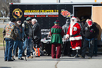 NWA Democrat-Gazette/J.T. WAMPLER Riders and supporters gather Sunday Dec. 2, 2018 during the 5th Annual NWA Bikers Toy Run. More than 200 bikes motorcyclists from the north side of Fayetteville to Greenland. The event was open to all Northwest Arkansas motorcycle clubs.