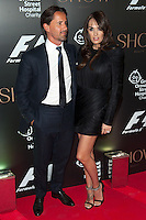 Jay Rutland and Tamara Ecclestone arriving for the F1 Party 2014, The Victoria And Albert Museum, London. 02/07/2014 Picture by: Alexandra Glen / Featureflash