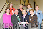 Christine Carroll Ladies Captain of Killarney Golf and Fishing club presents the proceeds of their Charity golf classic in the clubhouse to South Kerry Multiple Sclerosis  and Kerry Cork Health Link bus on Wednesday evening front row l-r Mary Lynch, Sean Prendergast, Christine Carroll, Rosemarie Nolan. Back row: Mary F O'Connell, Kathleen McCarthy, Mary O'Connell and Kaye Fleming