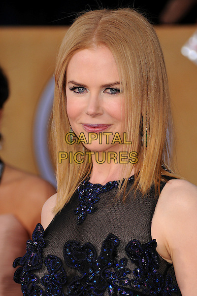 Nicole Kidman Urban .Arrivals at the 19th Annual Screen Actors Guild Awards at the Shrine Auditorium in Los Angeles, California, USA..27th January 2013.SAG SAGs headshot portrait black blue lace sheer sleeveless   .CAP/ADM/BP.©Byron Purvis/AdMedia/Capital Pictures