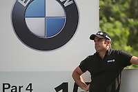A dejected Paul McGinley waits to tee off on the 15th hole during the 3rd round of the 2008 BMW PGA Championship at Wentworth Club, Surrey, England 24th May 2008 (Photo by Eoin Clarke/GOLFFILE)