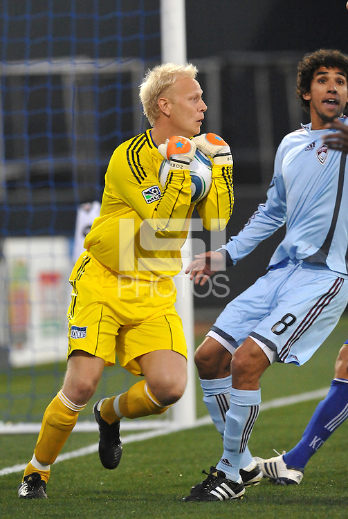 Jimmy Nielsen...Kansas City Wizards defeated Colorado Rapids 1-0 at Community America Ballpark, Kansas City, Kansas.