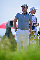 Tyrell Hatton (ENG) looks over his tees shot on 13 during Friday's round 2 of the 117th U.S. Open, at Erin Hills, Erin, Wisconsin. 6/16/2017.<br /> Picture: Golffile | Ken Murray<br /> <br /> <br /> All photo usage must carry mandatory copyright credit (&copy; Golffile | Ken Murray)