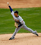 26 August 2007:  Washington Nationals pitcher Saul Rivera on the mound against the Colorado Rockies at Coors Field in Denver, Colorado. The Rockies defeated the Nationals 10-5 to sweep the 3-game series...Mandatory Photo Credit: Ed Wolfstein Photo