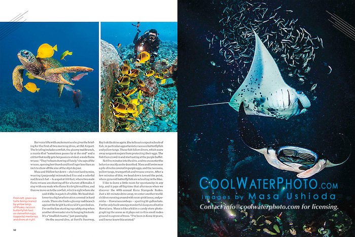 Sport Diver Magazine, September 2013, Big Island of Hawaii feature - assignment, USA, Image ID: