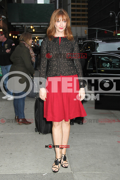 NEW YORK, NY - NOVEMBER 1: Judy Greer at Late Show with David Letterman at The Ed Sullivan Theater in New York City. November 1, 2012. Credit: RW/MediaPunch Inc. /NortePhoto .<br /> &copy;NortePhoto