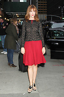 NEW YORK, NY - NOVEMBER 1: Judy Greer at Late Show with David Letterman at The Ed Sullivan Theater in New York City. November 1, 2012. Credit: RW/MediaPunch Inc. /NortePhoto .<br />