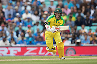 A big shout of yes as  David Warner (Australia) takes a quick single during India vs Australia, ICC World Cup Cricket at The Oval on 9th June 2019