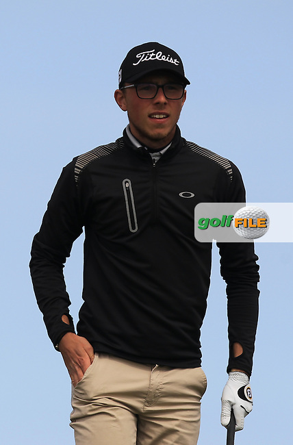 George Bloor (ENG) on the 14th tee during Round 1 of the Flogas Irish Amateur Open Championship at Royal Dublin on Thursday 5th May 2016.<br /> Picture:  Thos Caffrey / www.golffile.ie