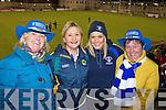 Shiela McCArthy, Joanne Downey, Kerrie Lynch and Kathleen O'Sullivan Castleisland Desmonds fans at the Celebrity Bainisteoir final at Parnell park on Friday night.