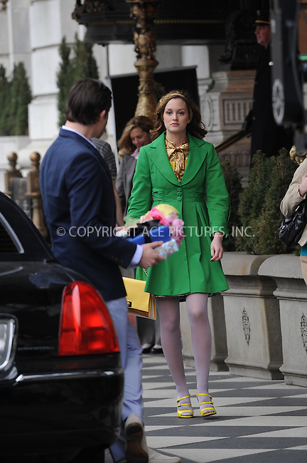 WWW.ACEPIXS.COM . . . . . ....March 16 2009, New York City....Actors Ed Westwick and Leighton Meester on the set of of the TV show 'Gossip Girl' outside the Plaza Hotel in midtown Manhattan on March 16 2009 in New York City.....Please byline: KRISTIN CALLAHAN - ACEPIXS.COM.. . . . . . ..Ace Pictures, Inc:  ..tel: (212) 243 8787 or (646) 769 0430..e-mail: info@acepixs.com..web: http://www.acepixs.com