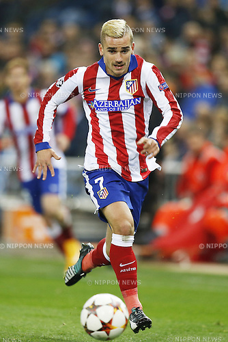 Antoine Griezmann (Atletico), NOVEMBER 26, 2014 - Football / Soccer : UEFA Champions League Group A match between Club Atletico de Madrid 4-0 Olympiacos FC at the Vicente Calderon Stadium in Madrid, Spain. (Photo by Mutsu Kawamori/AFLO) [3604]