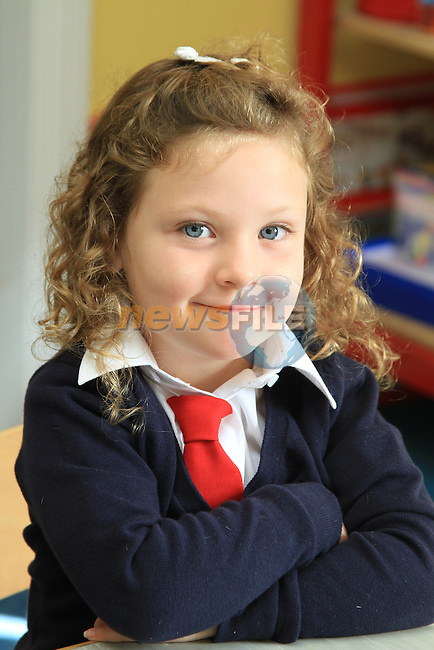 First Day at School in Réalt na Mara G.N.S. Donacarney, Co Meath..Picture Fran Caffrey/www.newsfile.ie.