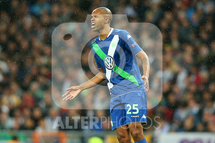 WfL Wolfsburg's Naldo during Champions League 2015/2016 Quarter-finals 2nd leg match. April 12,2016. (ALTERPHOTOS/Acero)