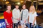 L-R Noreen O'Mahony, from Firies, Eileen O'Carroll from Killarney, Edel O'Carroll from Killarney and Kirsty Mitchel from Scotland at the Cairde an Leigiun Designer Fashion Event at The Malton Hotel, Killarney last Friday night.