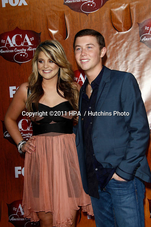 LOS ANGELES - DEC 5:  Lauren Alaina, Scotty McCreery arrives at the American Country Awards 2011 at MGM Grand Garden Arena on December 5, 2011 in Las Vegas, NV