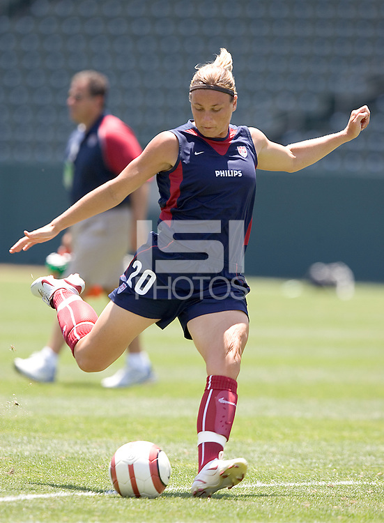 Abby Wambach. The USA defeated Iceland, 3-0, at the Home Depot Center in Carson, CA on July 24, 2005.