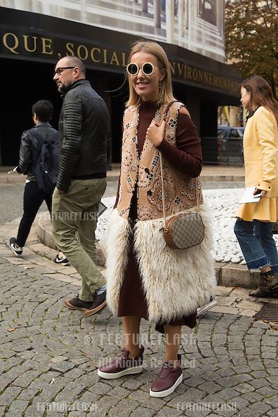 Ksenia Sobchak attend Miu Miu Show Front Row - Paris Fashion Week  2016.<br /> October 7, 2015 Paris, France<br /> Picture: Kristina Afanasyeva / Featureflash