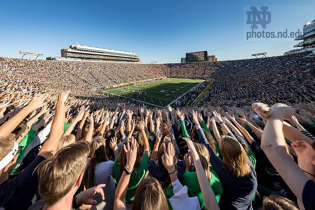 September 30, 2017; Student section of Notre Dame Stadium (Photo by Matt Cashore/University of Notre Dame)