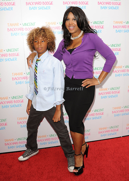 May 5, 2013   Beverly Hills, Ca..Toni Braxton and Diezel Ky Braxton.Tamar Braxton celebrates her Carnival Themed Baby Shower with friends and family, at the Hotel Bel Air..© Fitzroy Barrett / AFF-USA.COM