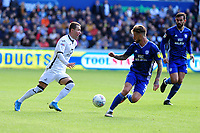 Bersant Celina of Swansea City in action during the Sky Bet Championship match between Swansea City and Cardiff City at the Liberty Stadium in Swansea, Wales, UK. Sunday 27 October 2019